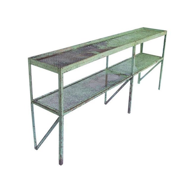 Long Narrow Industrial Mesh Console - Image 2 of 11