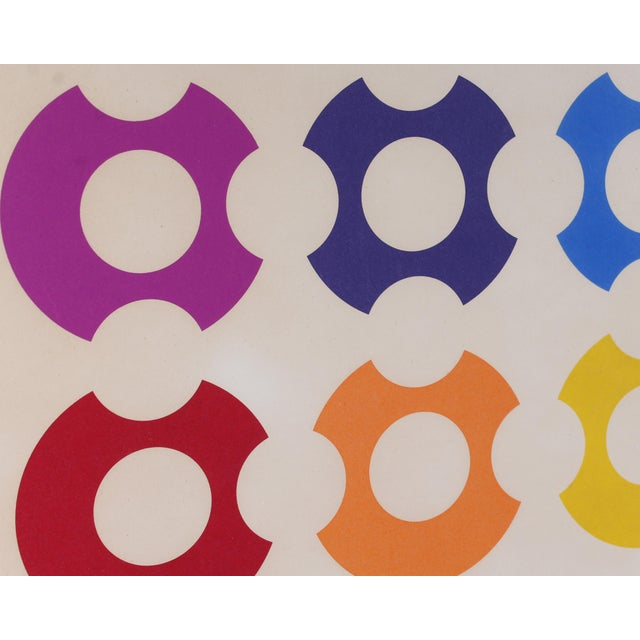 Contemporary Limited Edition Op Art Lithograph Print Signed Victor Vasarely For Sale - Image 3 of 8