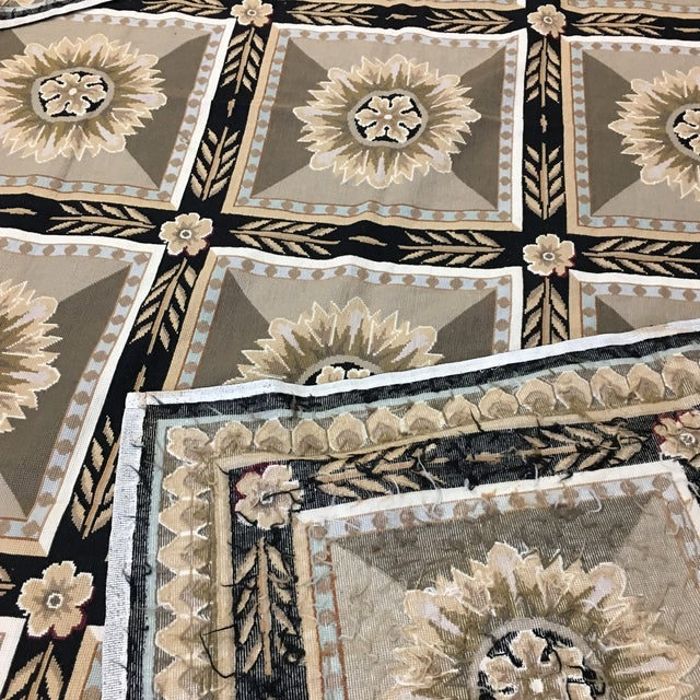 French Hand Woven Aubusson Needlepoint Area Rug - 5′5″ × 9′8″ - Image 7 of 11