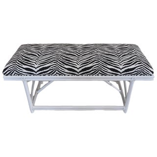 Ficks Reed Zebra Bench For Sale