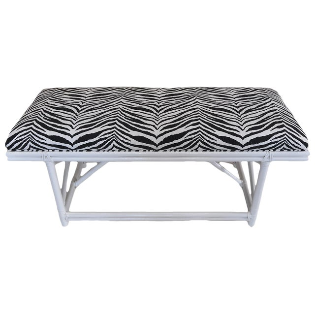Ficks Reed Zebra Bench - Image 1 of 4