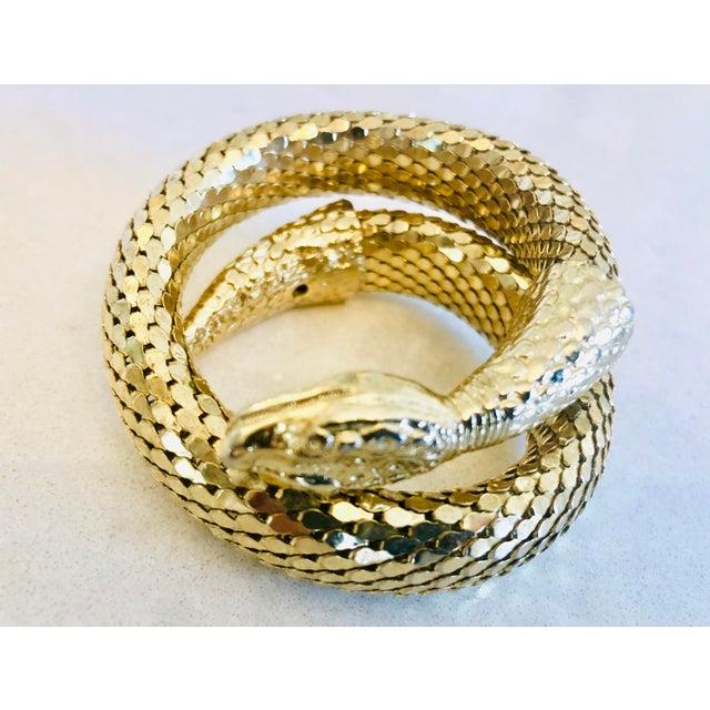 Whiting & Davis Gold Mesh Snake Bracelet For Sale In New York - Image 6 of 9