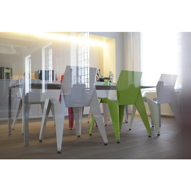 2010s Origami Inspired Edge Green Chair | Indoor & Outdoor Chair For Sale - Image 5 of 9