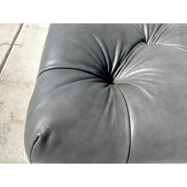 Modern Gambrell Renard West End Leather Ottoman For Sale - Image 4 of 10