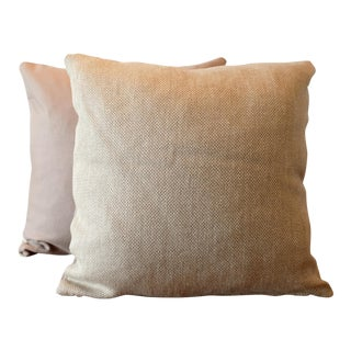Italian Woven / English Wool Pillow Covers - a Pair For Sale