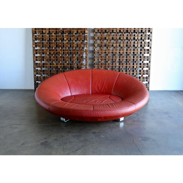 Animal Skin Jane Worthington DS 152 Red Leather Sofa for De Sede For Sale - Image 7 of 13