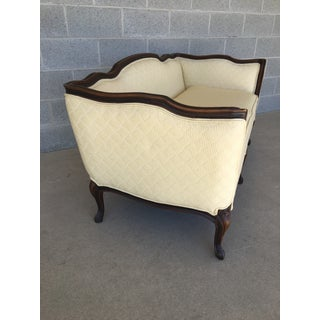 Ethan Allen Louie XV Style French Provincial White Love Seat Preview