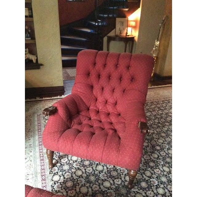 Sleepy Hollow Chair Amp Ottoman A Pair Chairish