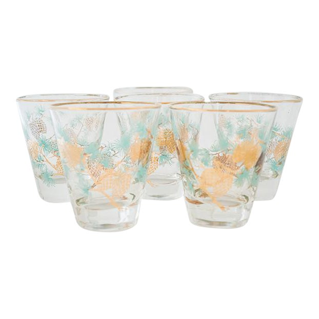 Set of 6 Pinecone Juice Glass by David Douglas for Libbey - Image 1 of 6