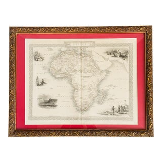 1853 Gilt Wood Framed Map of Africa Engraved Print For Sale