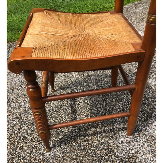 Wood Vintage Mid-Century Ethan Allen L. Hitchcock Eagle Side Chair For Sale - Image 7 of 12