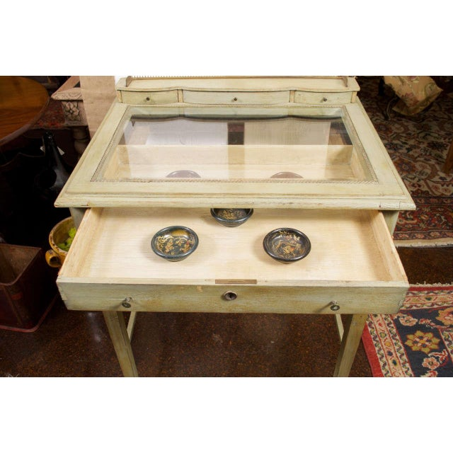 Painted Collector's Display Table For Sale In San Francisco - Image 6 of 6