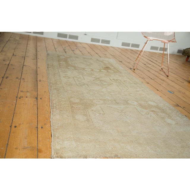 "Vintage Distressed Oushak Rug Runner - 3'7"" x 8'3"" - Image 7 of 10"