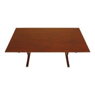 1990s Primitive Stephen Von Hohen Pine Trestle Dining Table For Sale