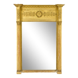19th Century French Empire Style Gilded Mirror For Sale