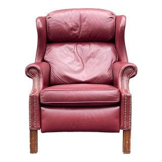 Bradington Young Leather Reclining Wingback For Sale
