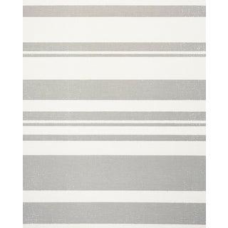 Sample - Schumacher Horizon Paperweave Wallpaper in Grey For Sale