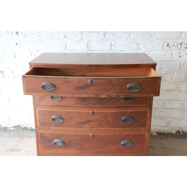 1960s Baker Furniture Four-Drawer Mahogany Bachelor Chest For Sale - Image 5 of 11