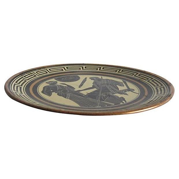 Greek Enamel Plate - Image 3 of 3