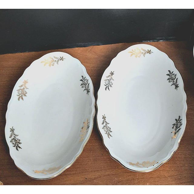 White Epiag Royal Czechoslovakia Luncheon Set - 43 Pieces For Sale - Image 8 of 13