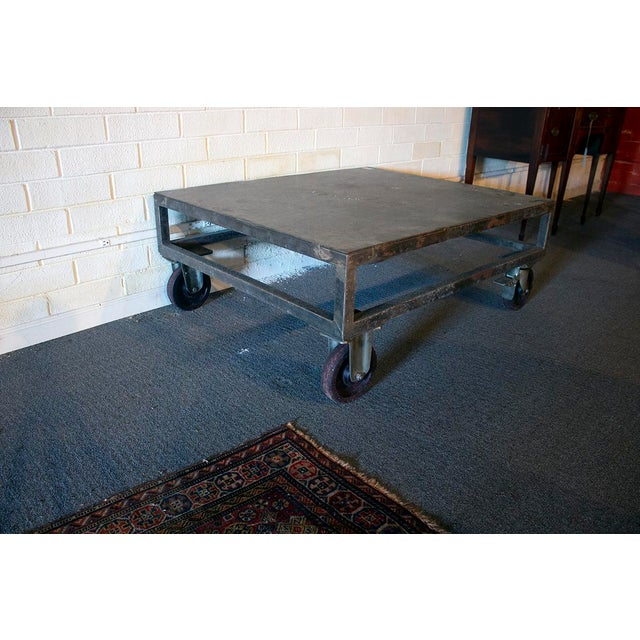 English 1940s Industrial Cocktail Table For Sale - Image 3 of 4