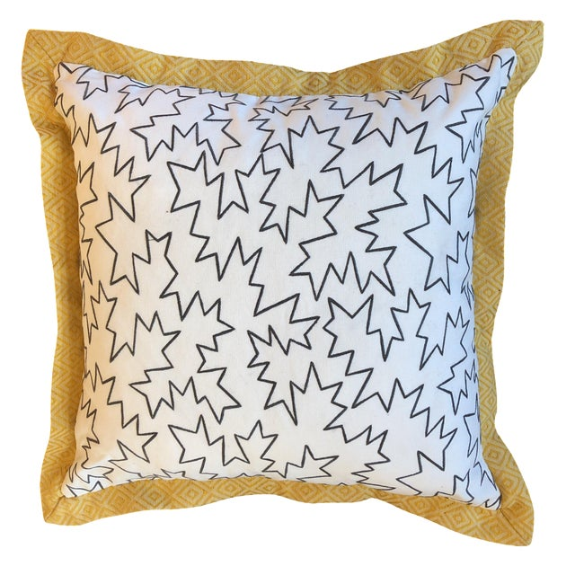 Jim Thompson Embroidered White Linen Pillows- 2 pc. For Sale