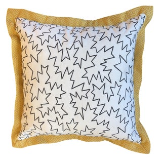 Jim Thompson Embroidered White Linen Pillows- 2 Piece