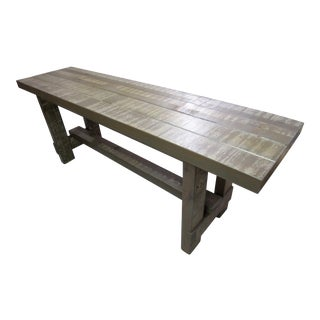 Cedar Rustic Beam Console Table Handmade For Sale