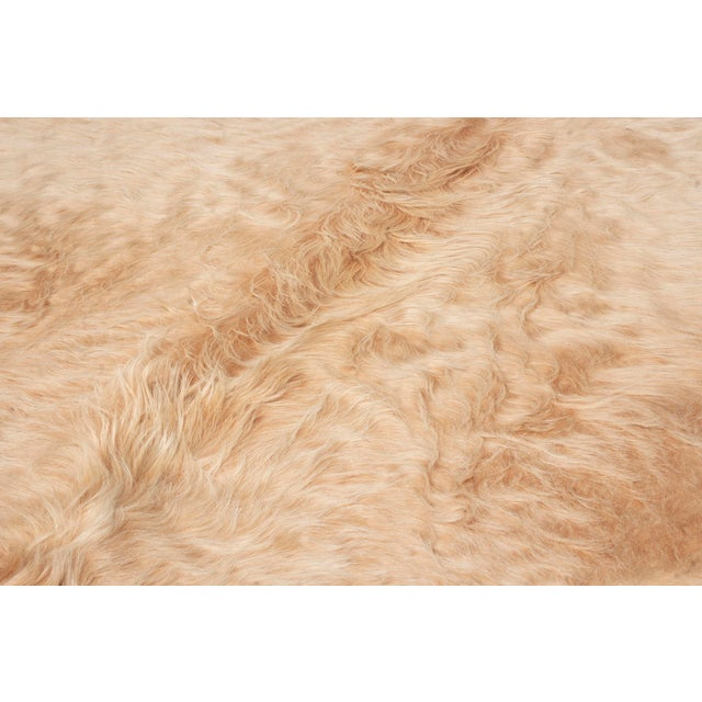 Beige Long Hair Large Cowhide Rug - 8′ × 8′11″ For Sale In New York - Image 6 of 7