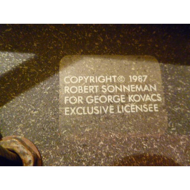 Green Fine Robert Sonneman Memphis Inspired Suspension Chandelier For Sale - Image 8 of 11