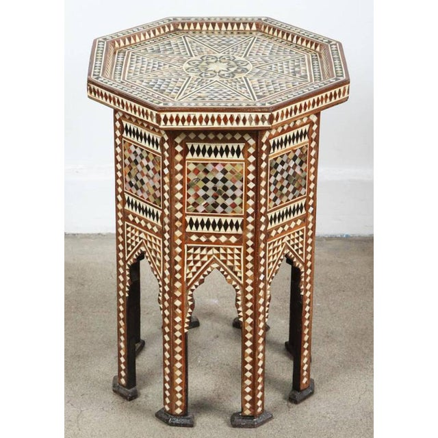 Bone Syrian Octagonal Table Inlay with Mother-Of-Pearl For Sale - Image 7 of 7