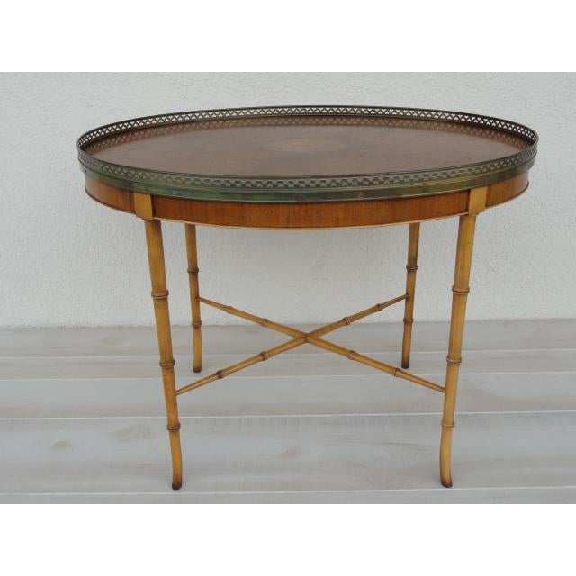 Mid 20th Century 20th Century Chinoiserie Holland Salley Baker Furniture End Table For Sale - Image 5 of 13