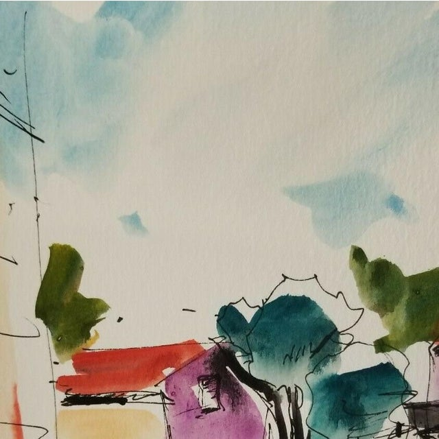 Up for sale: A one-of-a-kind watercolor painting by impressionist artist Jose Trujillo Measurements: 6 x 9 inches Medium:...