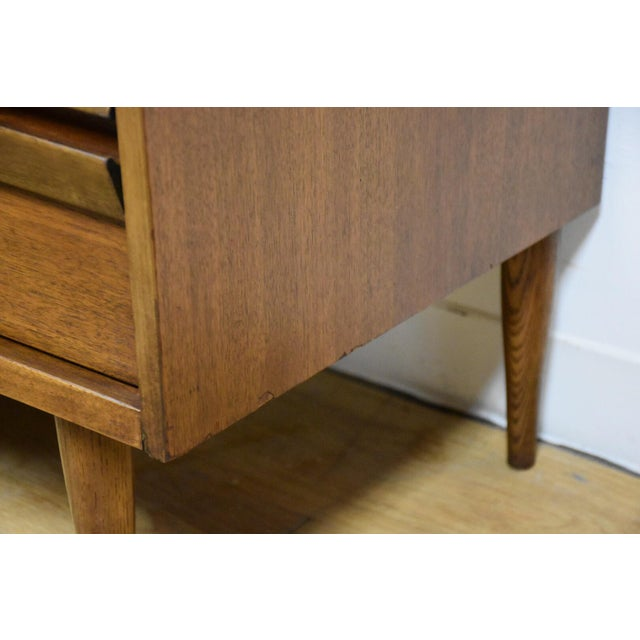 Bassett Walnut & Formica Dresser For Sale - Image 9 of 9