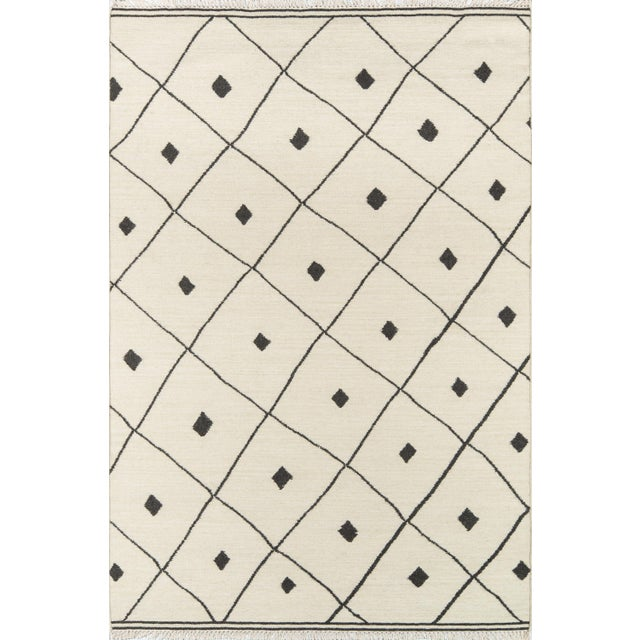 White Erin Gates by Momeni Thompson Appleton Ivory Hand Woven Wool Area Rug - 7′6″ × 9′6″ For Sale - Image 8 of 8