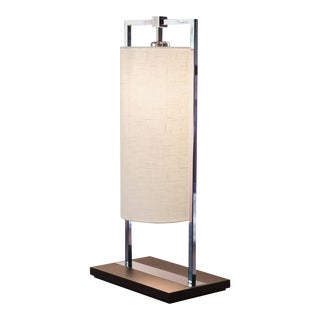 Contardi Athena Table Lamp W/ White Linen Shade For Sale