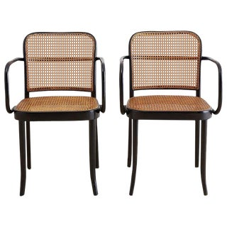 Josef Hoffman for Stendig Black Bentwood Prague Chairs For Sale
