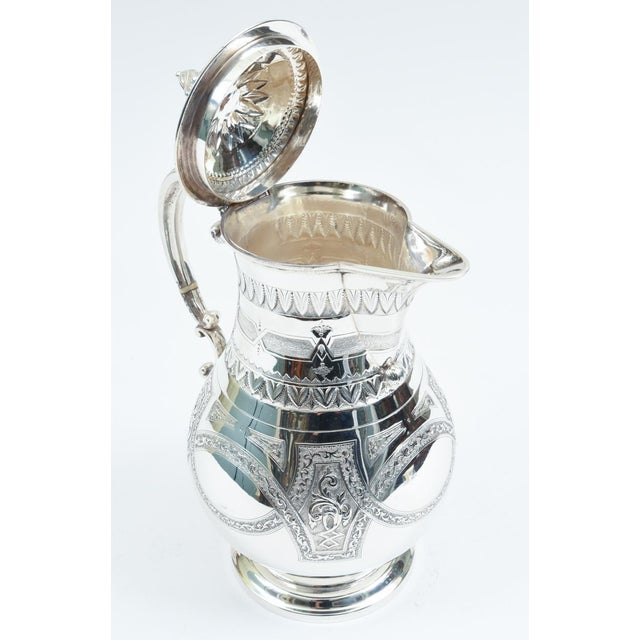 19th Century English Silver Plate Ornate Detailed Tea / Coffee Pot For Sale - Image 5 of 10