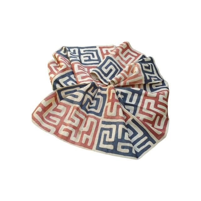 Handmade African Kuba Cloth Fabric - Image 1 of 3