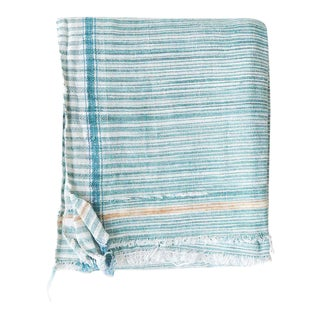 Khadi Towel in Green For Sale