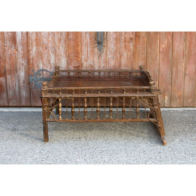 Early 20th Century Teak Jhoola Coffee Table For Sale In Los Angeles - Image 6 of 6
