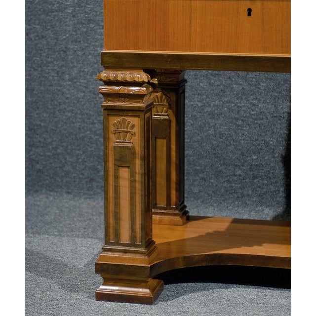 1930s Swedish Art Deco Neoclassical Carved Armoire Cabinet For Sale - Image 5 of 10