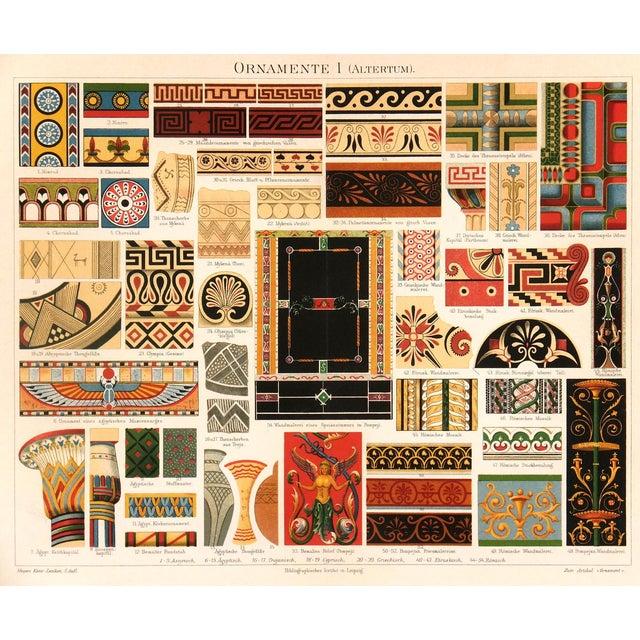Interior Designs Stone Lithograph C.1896 For Sale