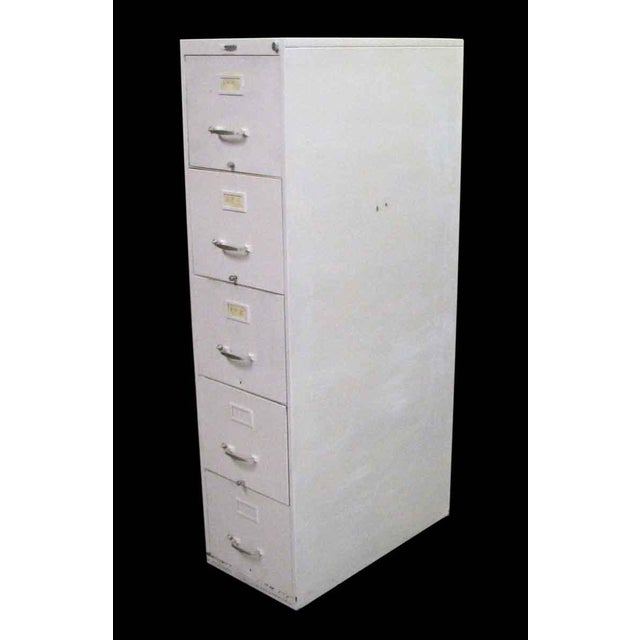 Standard Metal 5-Drawer File Cabinet For Sale - Image 4 of 4