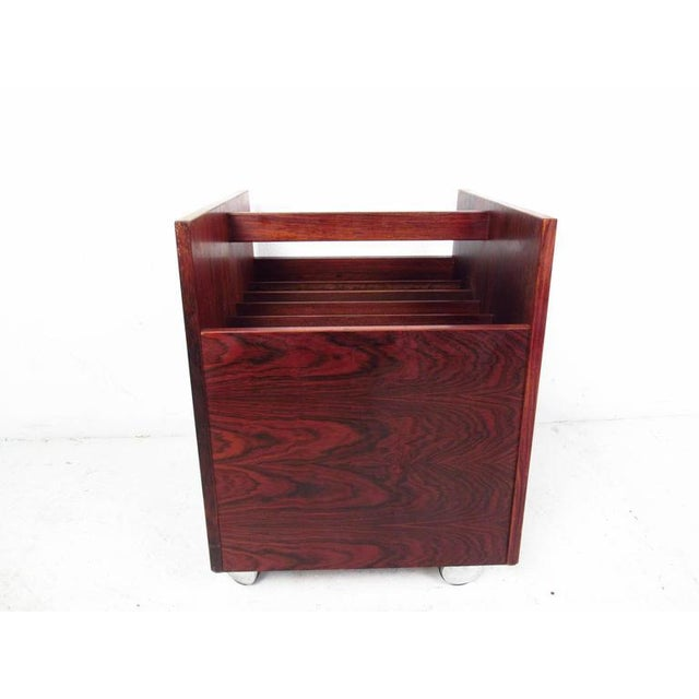 Mid-century Modern Rosewood Magazine Cart by Bruksbo For Sale - Image 9 of 9