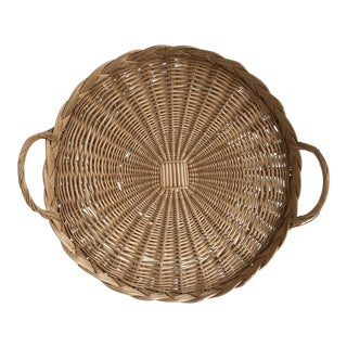 Natural Woven Wicker Serving Tray