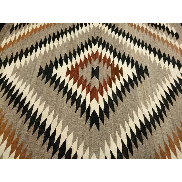 Antique Navajo Eye Dazzler Rug - 3′4″ × 4′3″ For Sale In Chicago - Image 6 of 9