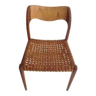 1960s Vintage Niel's O. Moller Model 71 Chair For Sale
