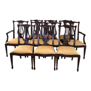 Hankel-Harris Dining Room Chairs- Set of 10 For Sale