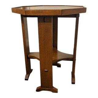 21st Century Stickley Octagonal Table For Sale